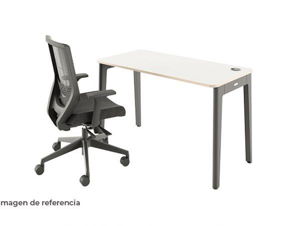 Combo 4 silla y escritorio blanco ergonómico de oficina | Mepal