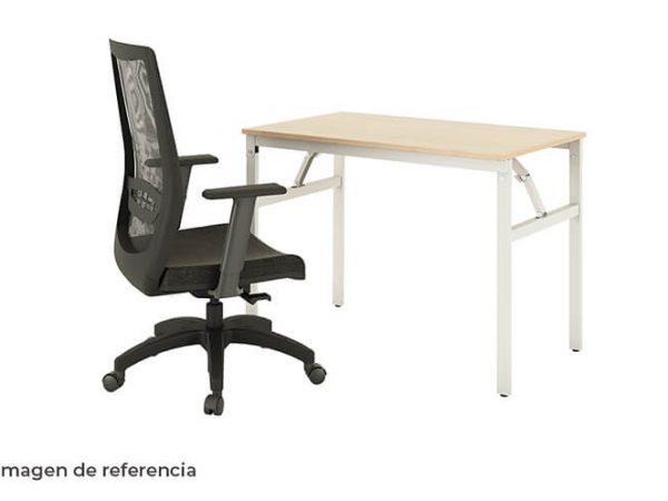Combo 3 silla y escritorio blanco ergonómico de oficina | Mepal